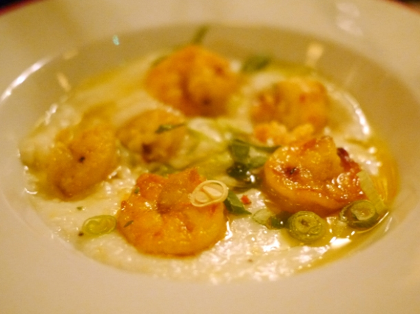 shrimp and grits at jackson and rye