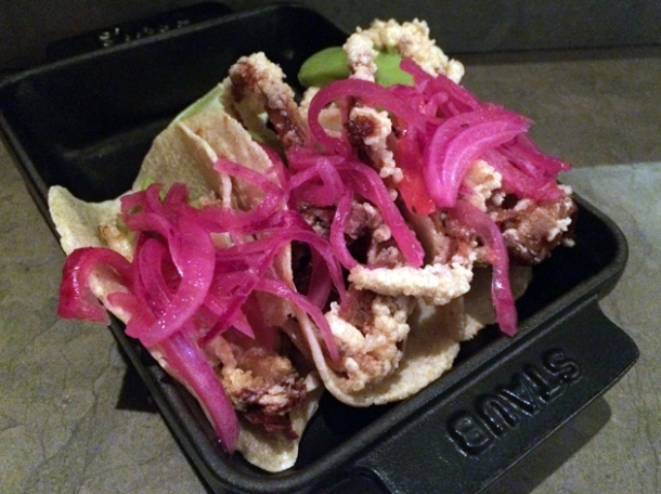 soft shell crab tacos at peyote