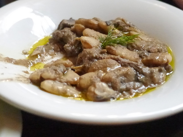 white bean and mushroom stew at drakes tabanco