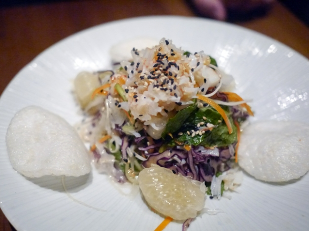 crab and pomelo salad at house of ho