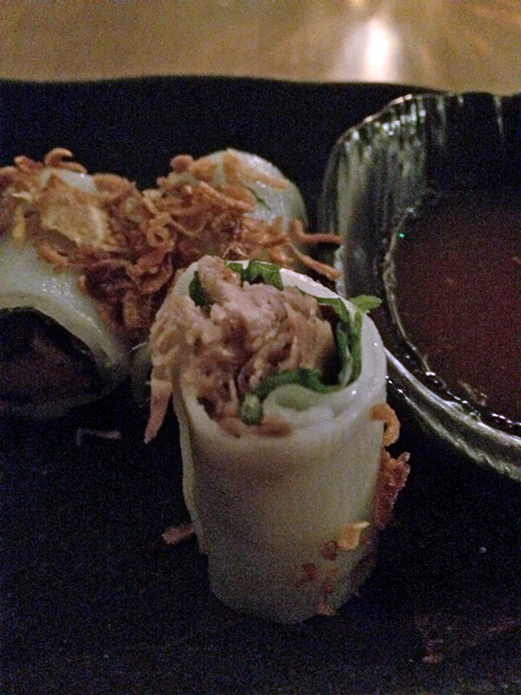 duck pho cuon rice noodle rolls at house of ho
