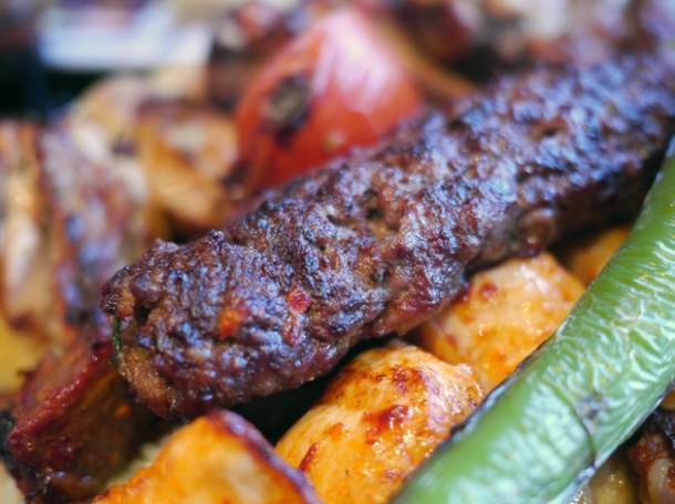 lamb kofte and chicken shish at devran