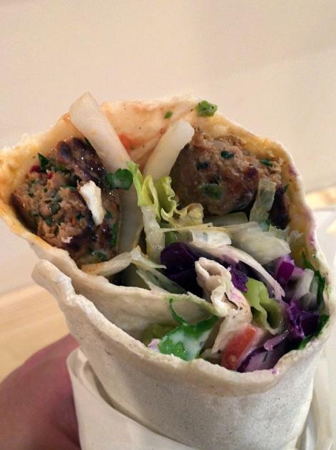 lamb kofte kebab at e mono finsbury park