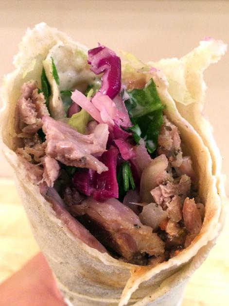 lamb shawarma at e mono finsbury park