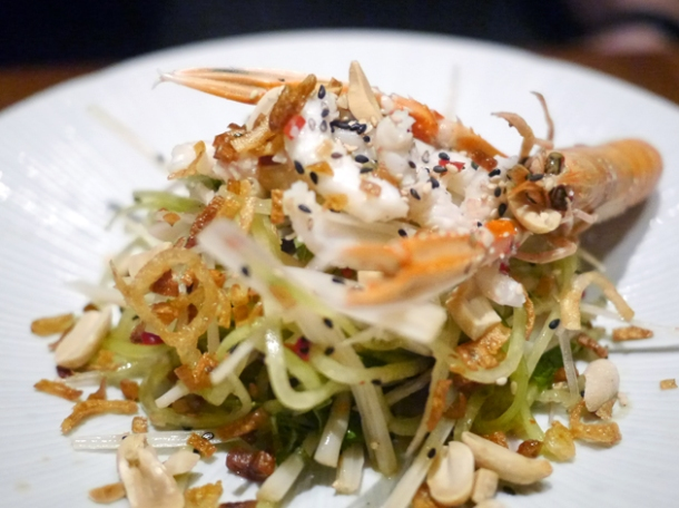 langoustine with salad at house of ho