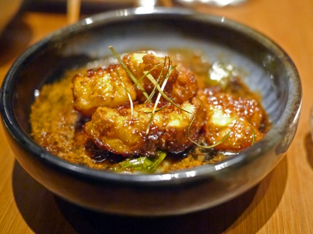 lemongrass monkfish with a fish caramel sauce at house of ho