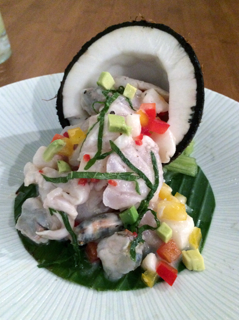 seafood ceviche at house of ho