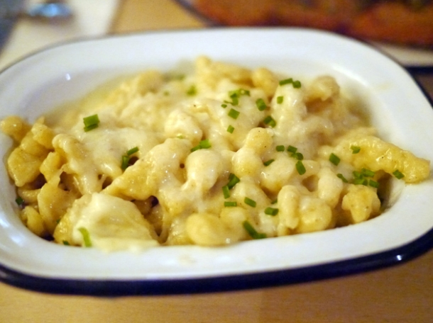spatzle and cheese at boopshi's