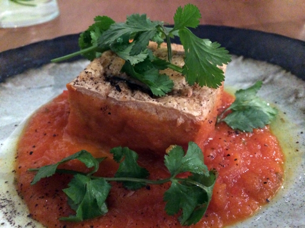 stuffed tofu in tomato sauce at house of ho