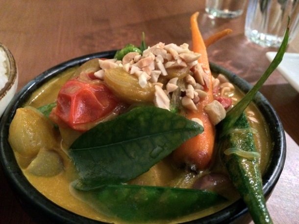 vegetable curry at house of ho