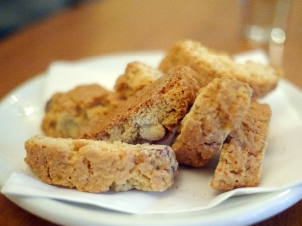 almond biscotti at sardo