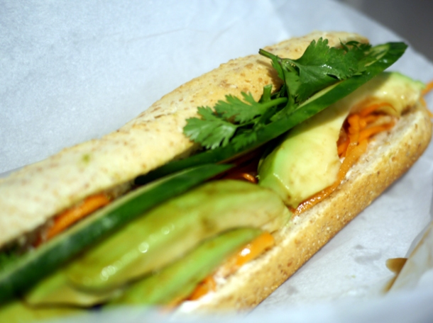 avocado vietnamese baguette from an woolwich