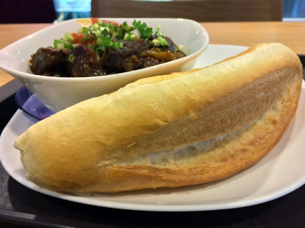 beef stew with baguette at aobaba elephant and castle