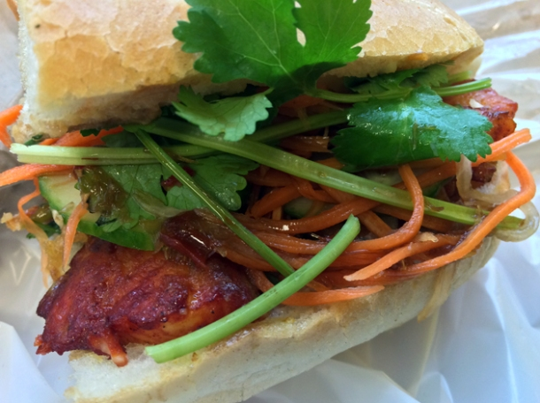 catfish baguette at banh mi hoi an