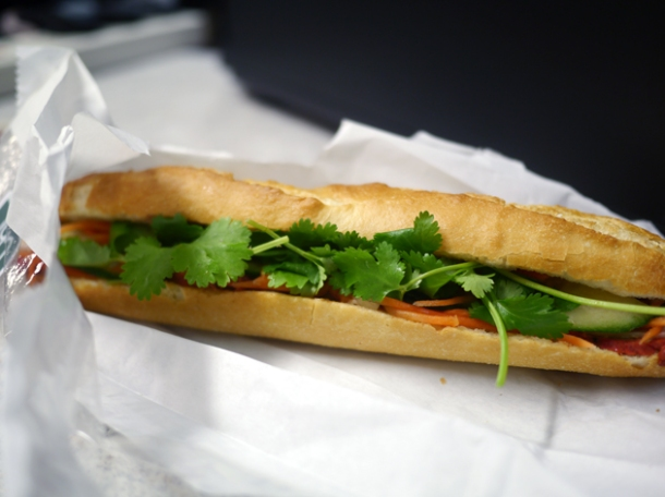 classic banh mi from chi