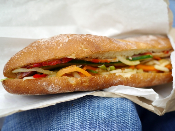 classic banh mi from keu