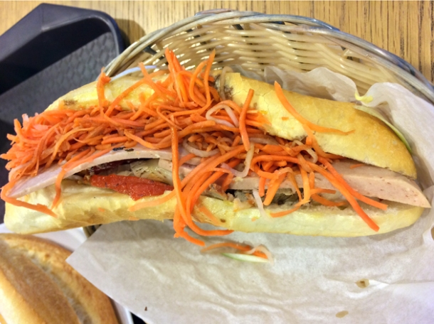 classic saigon banh mi at aobaba elephant and castle
