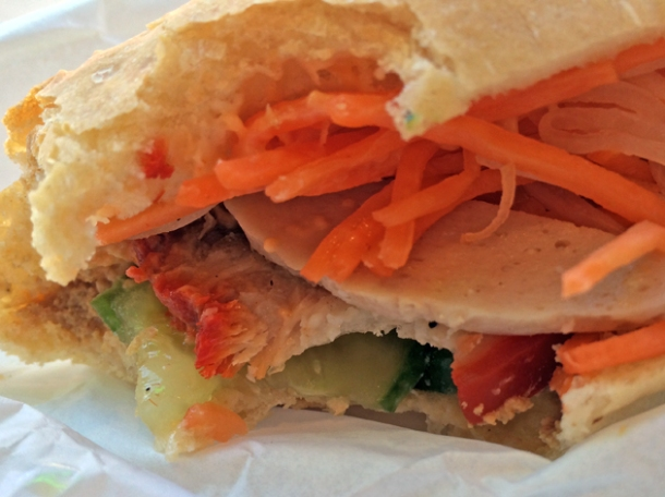close up of classic banh mi at chaonow