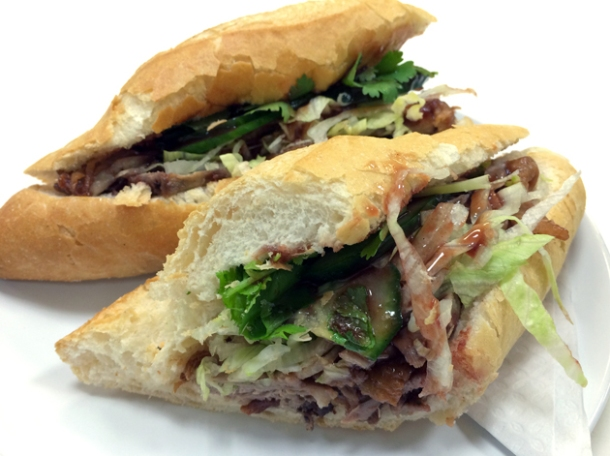 duck banh mi at bun cha