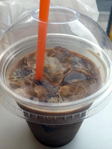 iced vietnamese coffee at banh mi saigon
