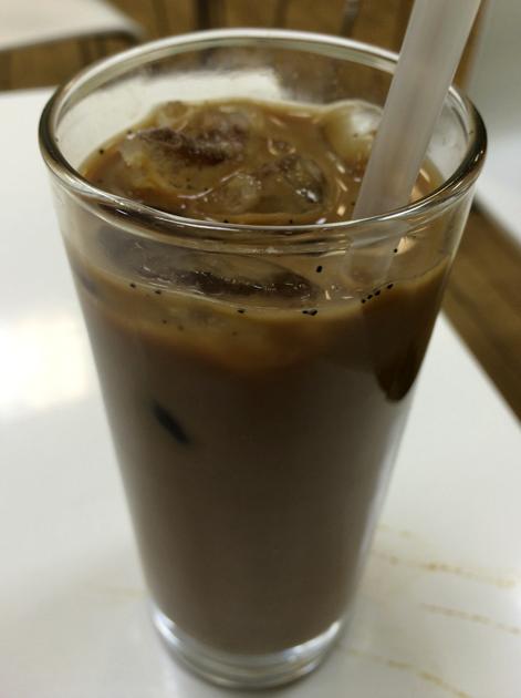 iced vietnamese coffee at bun cha