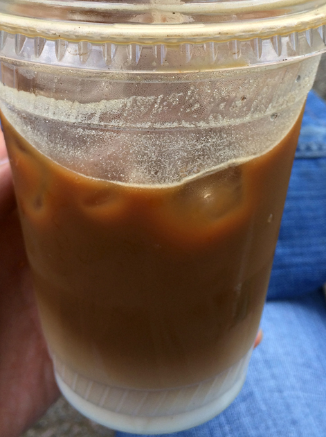 iced vietnamese coffee at caphe house