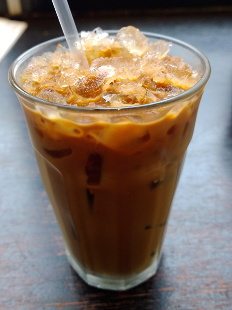 iced vietnamese coffee at keu
