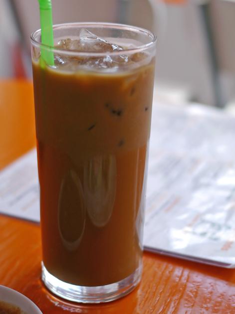 iced vietnamese coffee at panda panda