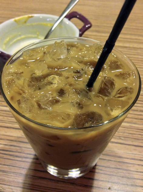iced vietnamese coffee at viet eat