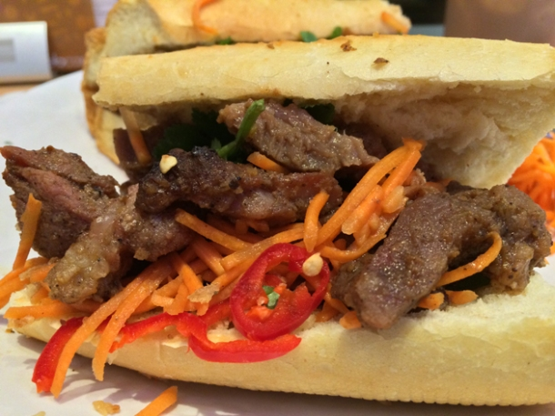 pork banh mi at velo