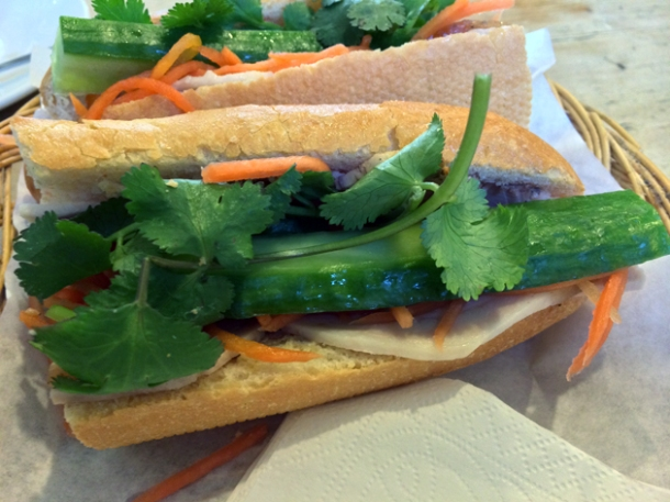 special banh mi at viet cafe