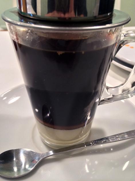 vietnamese coffee at bun cha
