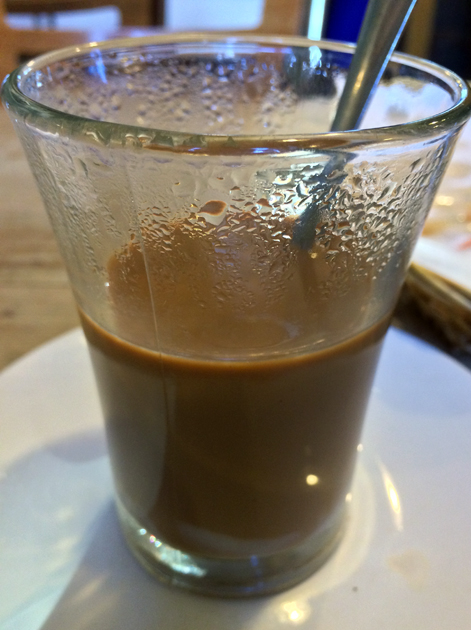 vietnamese coffee at viet cafe