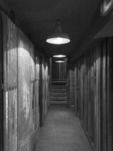 barnyard london restaurant hallway