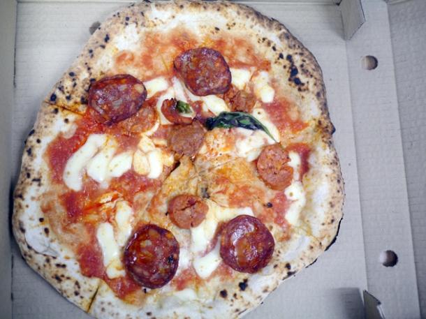 chorizo pizza from franco manca