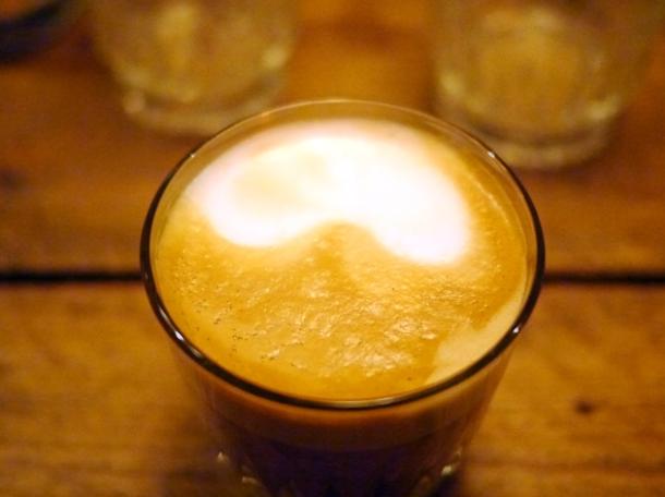 flat white coffee at barnyard