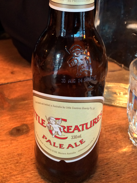 little creatures pale ale at barnyard