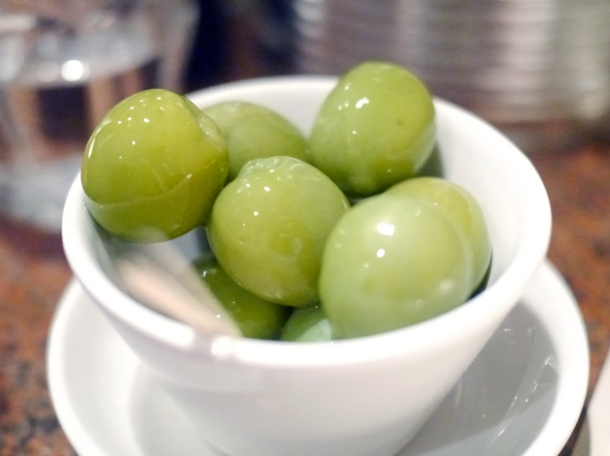 nocerella olives at franco manca