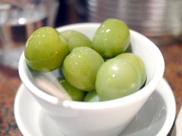 nocerella olives at franco manca