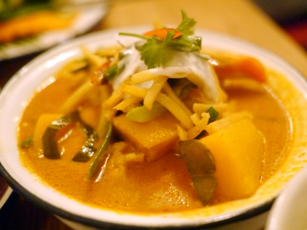 pumpkin curry at rosa's cafe carnaby street