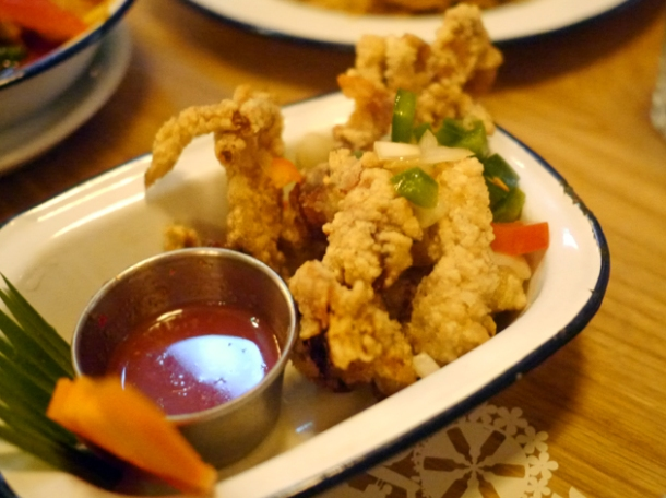 soft shell crab at rosa's cafe carnaby street
