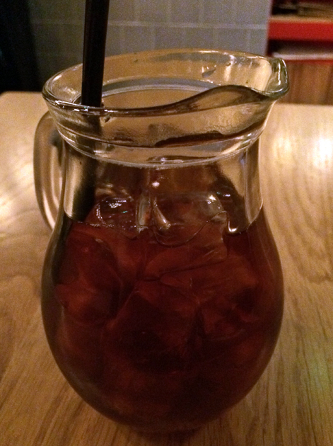 thai black iced tea at rosa's cafe carnaby street