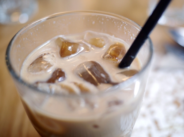 thai milk iced coffee at rosa's cafe carnaby street