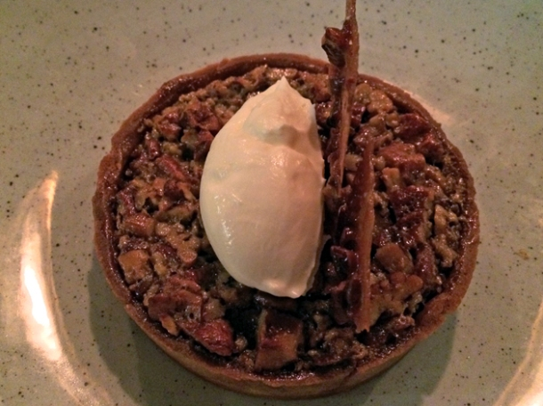 bourbon and pecan tart at q grill