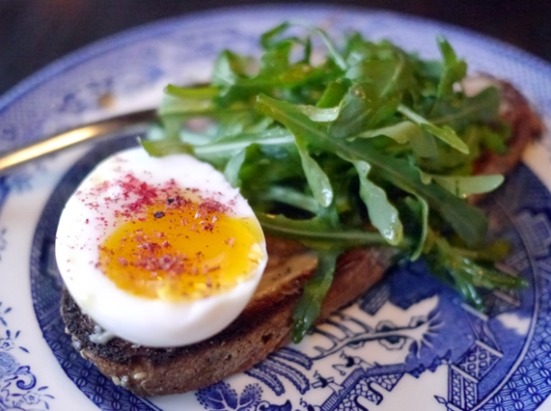 duck egg and anchovy on toast 8 hoxton square