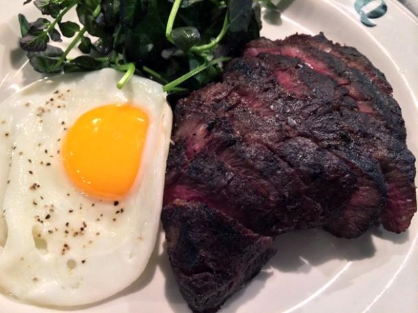 flat iron steak at q grill