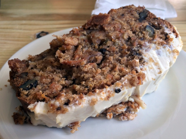carrot cake at rawduck