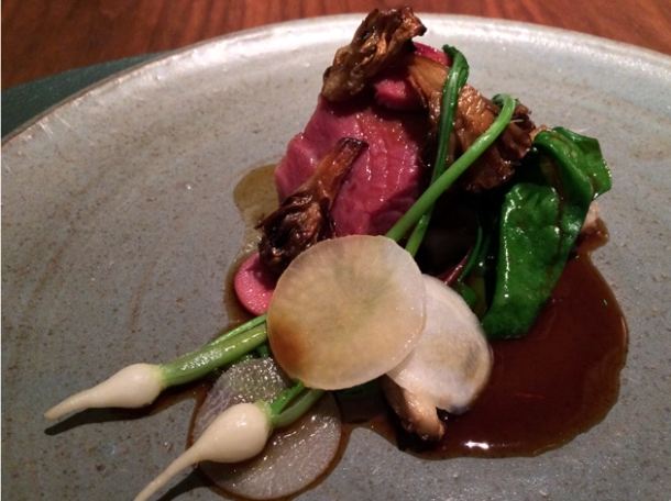hogget with pickled tongue and turnips at fera at claridge's