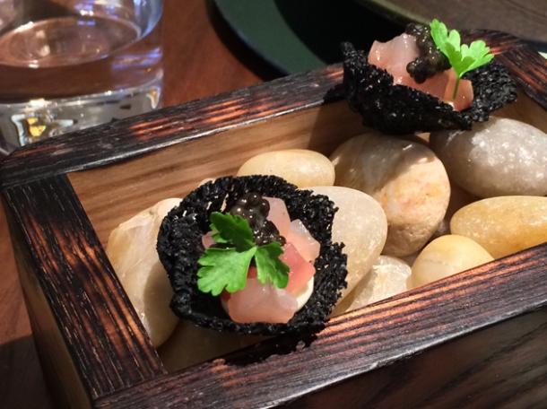 mackerel, caviar and cream at fera at claridge's