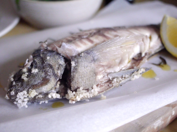 salt baked bream at rawduck